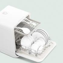 美的 Midea 免安装 全自动家用洗碗机 M10 (白色) 熊猫台式 智能迷你消毒刷碗机