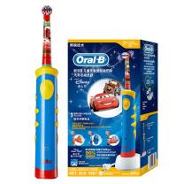 欧乐B Oralb 电动牙刷 儿童充电式牙刷(3岁以上适用)汽车总动员款 博朗精工 D10 Kid