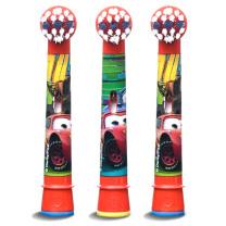 欧乐B Oralb 儿童电动疯狂赛车图案牙刷头 EB10-3K 3支装 (疯狂赛车) (适用D10,D12儿童电动牙刷)