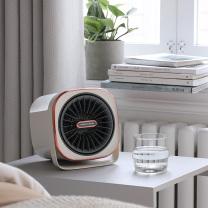 摩飞 取暖器迷你暖风机 家用办公桌浴室电暖加湿器便携冷暖加湿三合一椰奶白
