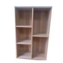 吉展 格子柜 50*24*80cm (浅胡桃) 简约木质储物柜 收纳柜 五格落地
