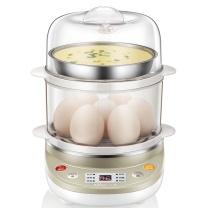 小熊 Bear 煮蛋器 ZDQ-C14A1  家用早餐迷你机蒸蛋器自动断电微电脑预约定时双层可煮14个蛋