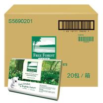 洁云 Hygienix 自由森林擦手纸单层三折 S5690201  200抽/包 20包/箱