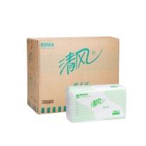 清风 Breeze 折叠式擦手纸单层二折 B900A  240抽/包 20包/箱 (大包装)