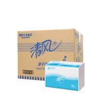 清风 Breeze 全压花擦手纸单层三折 B913AC 200抽/包  20包/箱
