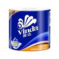 维达 vinda 蓝色经典卷筒卫生纸 V4069 四层 140g/卷  10卷/提 6提/箱
