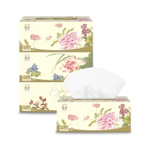 洁云 Hygienix 福瑞国色系列盒装面巾纸 13213301 三层 136抽/盒  3盒/提 16提/箱
