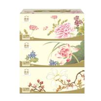 洁云 Hygienix 福瑞国色盒装面巾纸 132504/138114 双层 200抽/盒  3盒/提 12提/箱
