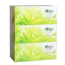 心相印 Mind Act Upon Mind 盒装面巾纸双层 H200 200抽/盒  3盒/提 12提/箱 (茶语系列)