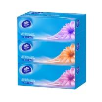 维达 vinda 超韧盒装面巾纸三层 V2218 130抽/盒  3盒/提 12提/箱