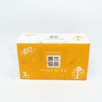 清风 Breeze 原木纯品迷你软包抽取式面纸 BR38SCS/SC2/SCS1 双层 200抽/包  3包/提 16提/箱 (新老包装交替以实物为准)