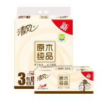 清风 Breeze 软包抽取式面巾纸 BR38LC1/BR38LC1S 双层 200抽/包  3包/提 16提/箱