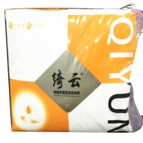 绮云 方巾纸 QY-0082  450张 刀切纸高档木浆压花