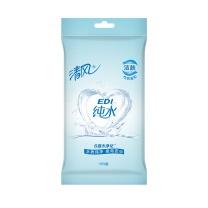 清风 Breeze EDI纯水湿巾 BWA10C 单片独立装  10张/包 60包/箱
