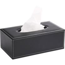 雅皮仕 简约皮质纸巾盒 大号 (黑色) 24个/箱