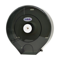 瑞沃 挂壁洗手间大手纸盒 V-610 280*270*125mm (茶色) 12卷/箱