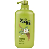 飘柔 Rejoice 长效清爽去油洗发露 750ml/瓶  12瓶/箱 (绿茶)
