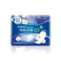 护舒宝 whisper 夜用卫生巾 纯棉舒睡 425mm 4片/包