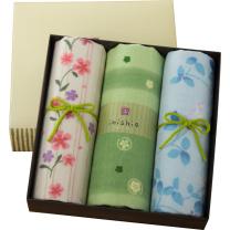 内野 UCHINO 和风系列面巾3条装礼盒 Y15321/5/Y15339 83*34cm 70g  3条/盒