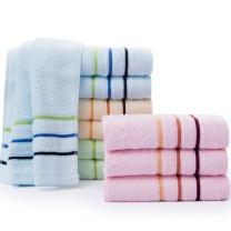 洁丽雅 grace 纯棉强吸水舒适毛巾 6443 74*33cm 85g 单条装  120条/箱 袋装 颜色随机
