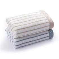 洁丽雅 grace 经典条纹系列全棉强吸水毛巾 6450 72*34cm 90g 单条装  120条/箱 袋装 颜色随机
