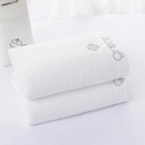 洁丽雅 grace 纯色毛巾 8642 80*36cm 110g 单条装 (白色) 120条/箱 袋装