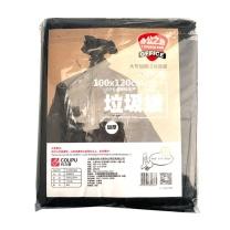 科力普 COLIPU 加厚型垃圾袋 平口式 100cm*120cm 2s (黑色) 10只/包 50包/箱