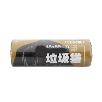 科力普 COLIPU 加厚型垃圾袋 断点式 45cm*55cm 1s (黑色) 30只/卷 100卷/箱