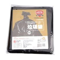 科力普 COLIPU 加厚型垃圾袋 平口式 90cm*100cm 2s (黑色) 10只/包 50包/箱