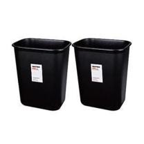 得力 deli 方形桌边垃圾桶 9562 25*21*29cm (黑色) 30个/箱