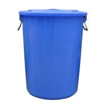 科力邦 Kelibang 塑料大圆桶水桶 KB3002 50L 400*400*400mm (蓝色) 有盖