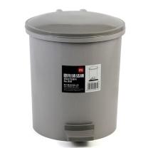 得力 deli 圆形脚踏清洁桶 959 小号 φ22cm (蓝灰随机) 12个/箱