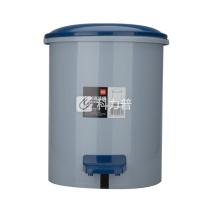 得力 deli 圆形脚踏清洁桶 958 大号 φ25cm (蓝灰随机) 6个/箱