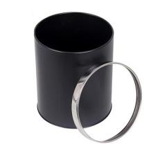 邦洁 圆形金属带圈垃圾桶 22.5*27cm (黑色) 6个/箱 (新老包装交替以实物为准)