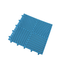 爱柯部落 拼装疏水防滑垫 0.3m*0.3m 12mm (蓝色) 材质:软性PVC