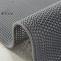 爱柯部落 S型镂空防滑垫 1.2*1m 5mm (灰色) 材质:PVC