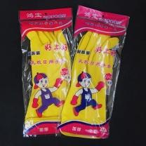 鸿宝 耐酸碱乳胶日用手套 M码 (黄色) 300双/箱 加厚
