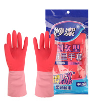 妙洁 乳胶手套 耐久型 中号  24副/箱