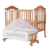 小硕士 婴儿床+椰棕床垫 DZ9415-36S 115*103*68cm