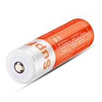 神火 SupFire 强光手电筒专用充电锂电池尖头 3.7V-4.2V 18650 2300 毫安 1节/卡 (橙色)
