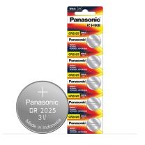 松下 Panasonic 纽扣电池 CR2025 5粒/卡