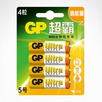 超霸 GP 碱性电池 15A-L4 5号  4节/卡 144卡/箱 (新老交替发货)