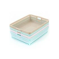 茶花 CHAHUA 圆点收纳筐 2895 35.5*26*8cm (随机) 40个/盒