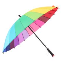 美度 彩虹两用手动开长柄晴雨伞 M5002 24骨 58.5*24K (颜色随机) 36把/箱