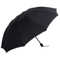 美度 加大版男士商务三折晴雨伞 M3327 10骨 63.5*10K (颜色随机) 50把/箱
