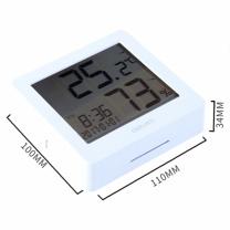 得力 deli 一秒一测闹钟整点报时电子温湿度计 8840 (白色)