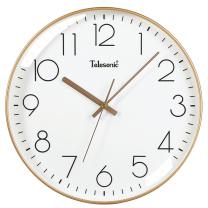 天王星 Telesonic 挂钟客厅静音简约创意钟表现代时尚个性时钟3D立体石英钟薄边挂表 35CM (奢时金)