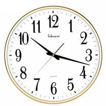 天王星 Telesonic 挂钟客厅现代简约创意静音石英钟卧室圆形壁钟 Q1611 43cm 17英寸