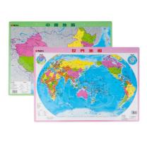 晨光 M&G 中国地图1张+世界地图1张 水晶版 ASD99827 59.3*42.4cm