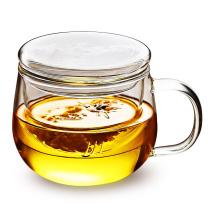 富光 高硼硅材质耐高温圆趣花茶杯 500ML